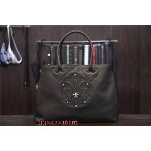 Chrome hearts CH正品克罗心官方网站专卖店女包童军花真皮休闲购物袋