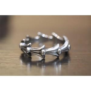 Chrome hearts CH克罗心中国专卖店正品925纯银凤尾戒指R019
