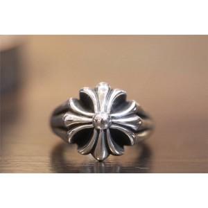 Chrome hearts CH克罗心正品代购官网纯银十字花戒指R013