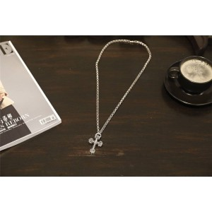 Chrome hearts CH官网克罗心海外代购十字花固定粗环项链N018