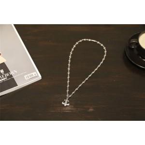 Chrome hearts CH官网克罗心美国代购童军花固定小十字项链N012