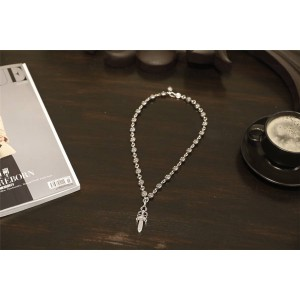 Chrome hearts CH官网克罗心奢侈品代购小宝剑固定十字圆珠项链N006