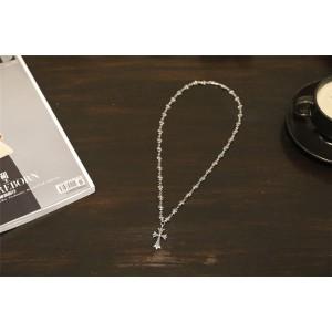 Chrome hearts CH官网克罗心加拿大代购纯银小十字架项链N009