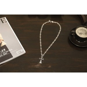 Chrome hearts CH官网克罗心正品代购十字固定花蕾圆珠项链N034