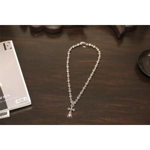 Chrome hearts CH官网克罗心品牌代购十字架固定龙头圆珠项链N033